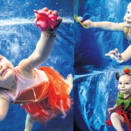 Infant Swimmers Conquer The World of Water Before Standing Up On Their Feet